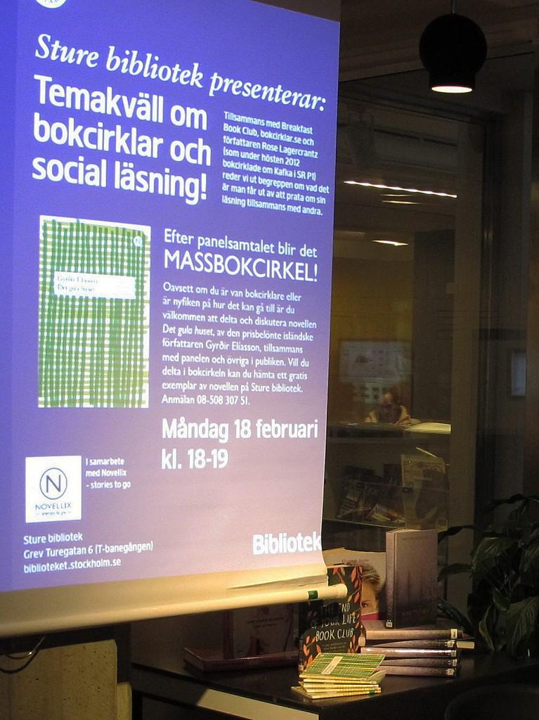 Temakväll Sture bibliotek
