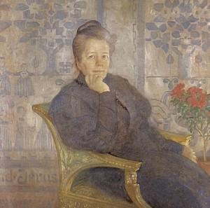 Selma Lagerlöf porträtt av Carl Larsson