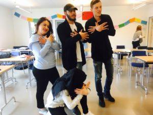 Ungdomar på Birger Sjobergsgymnasiet